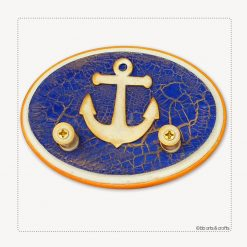 Marine oval wood 2-key holder