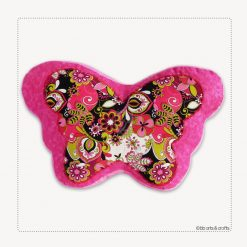 Decorative Flourish Patchwork Quilted Butterfly Pillow