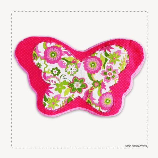 Decorative Patchwork Quilted Butterfly Pillow
