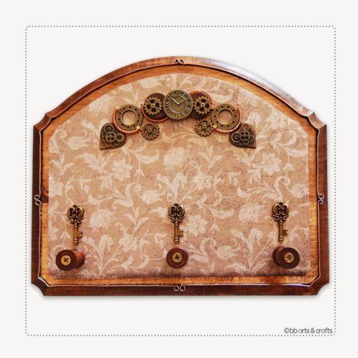 Industrial Steampunk Wooden Key Holder