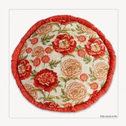 Decorative Round Floral Throw Pillow
