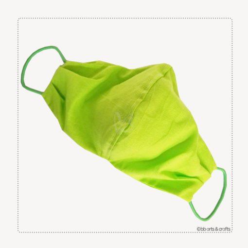 Reusable green cotton face mask