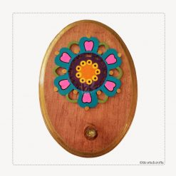 Oval Wooden Key Holder for Wall