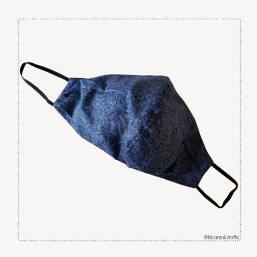Blue arabesque face mask